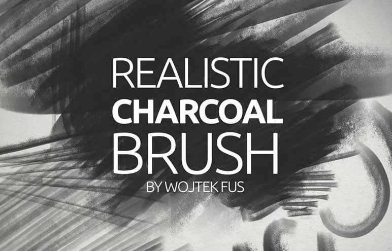 Realistic Charcoal Brush for Photoshop