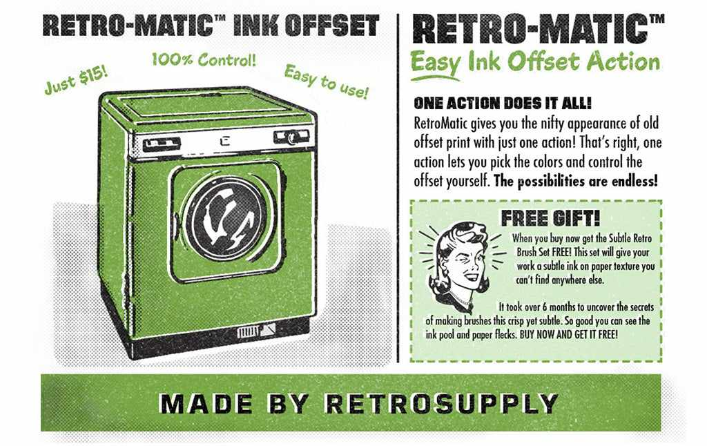 Free Retro and Vintage Photoshop Actions: Retro-matic