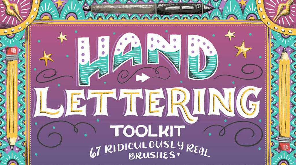 Retro Photoshop brushes: RetroSupply Hand Lettering Toolkit