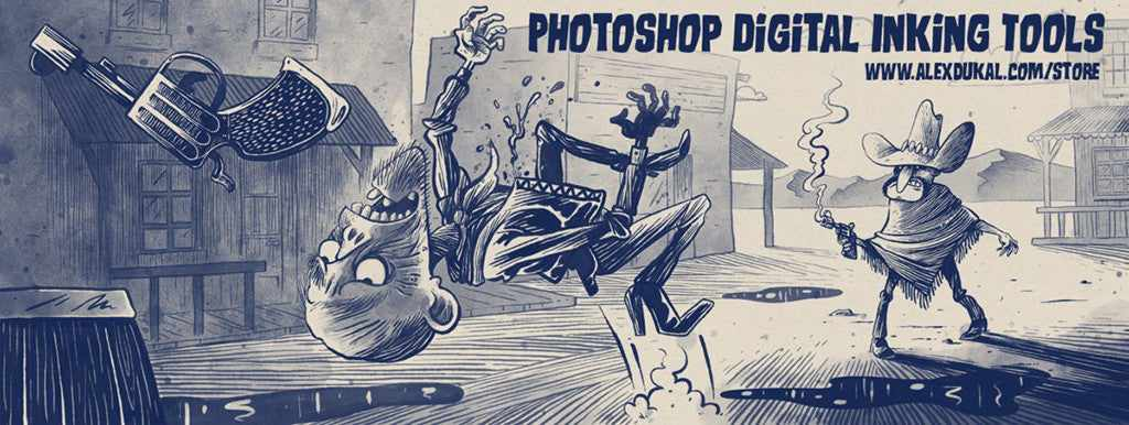 Retro and vintage Photoshop brushes: AD Cartoonist