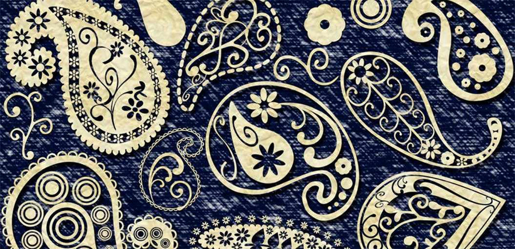 Retro Photoshop brushes: paisley