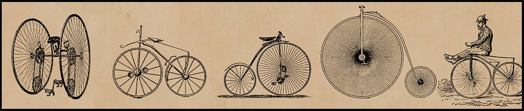Retro Photoshop brushes: vintage bicycles