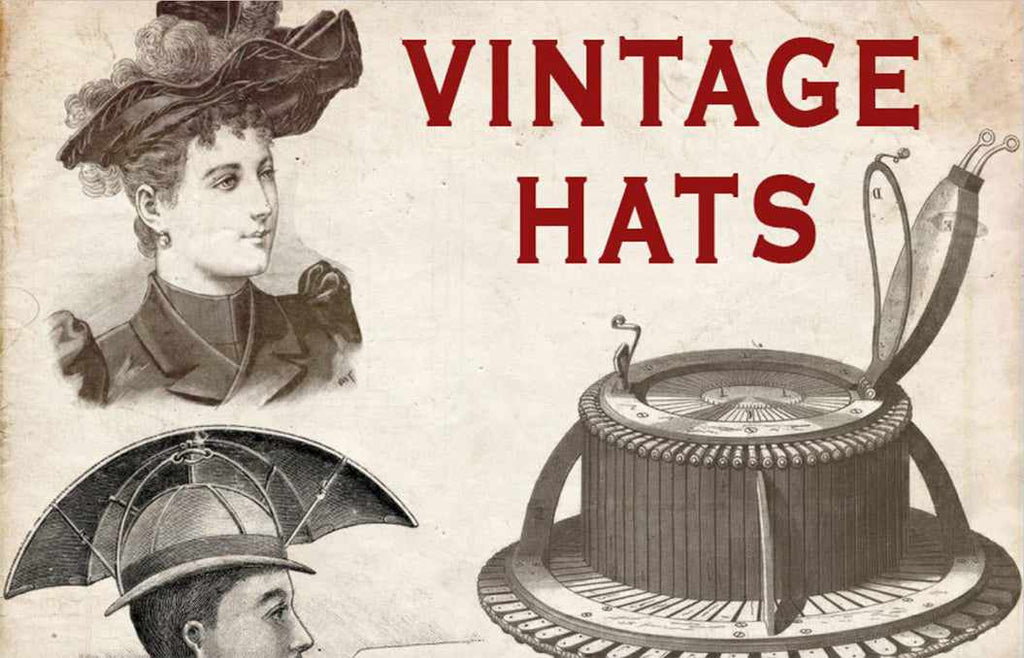 Retro Photoshop brushes: vintage hats