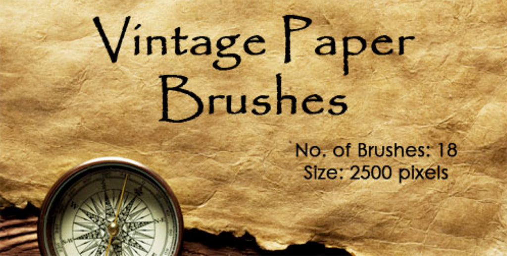 Retro Photoshop brushes: vintage paper
