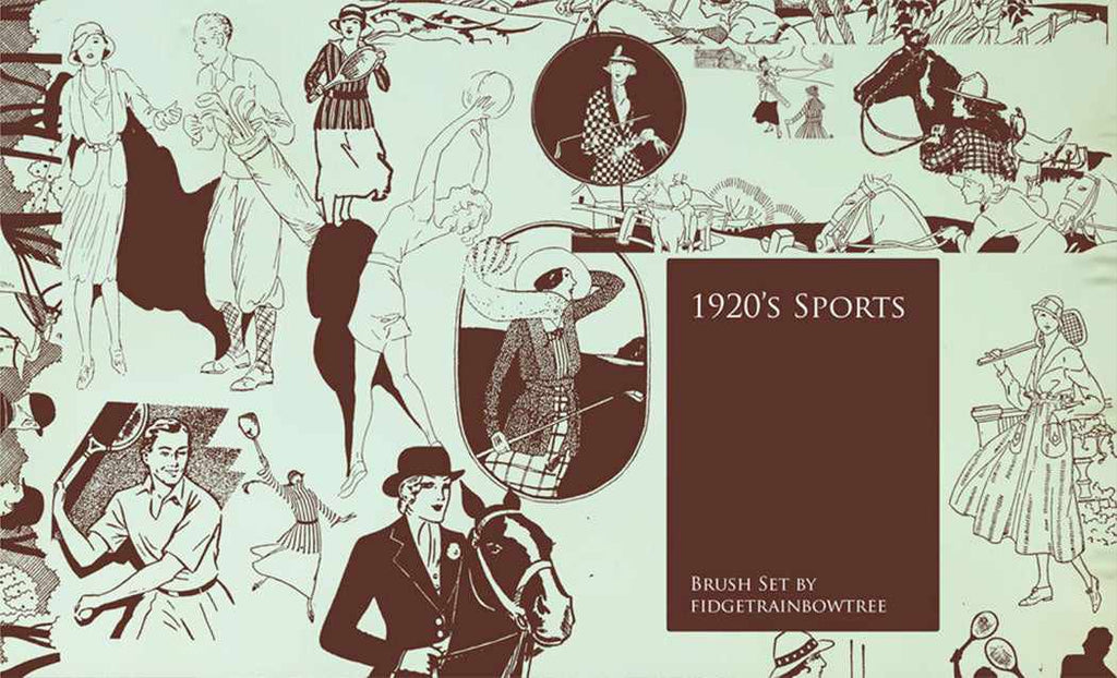 Retro Photoshop brushes: vintage sport