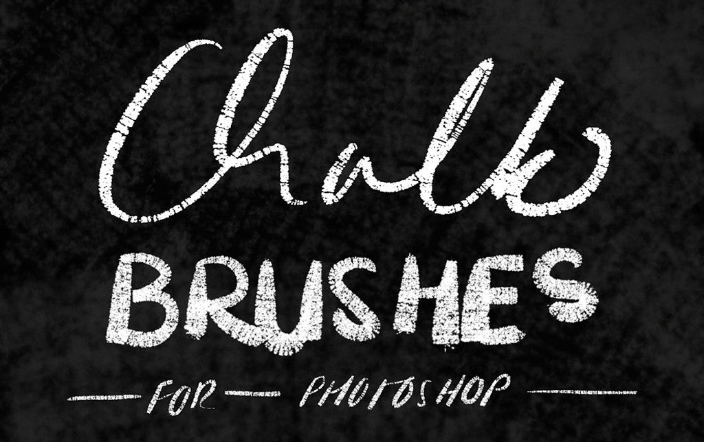 Retro and vintage Photoshop brushes: Chalk