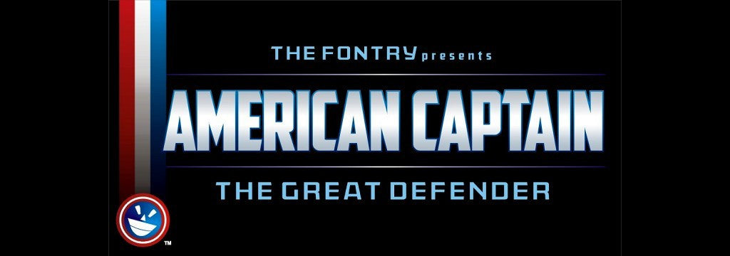 Free Retro and Vintage Fonts: American Captain