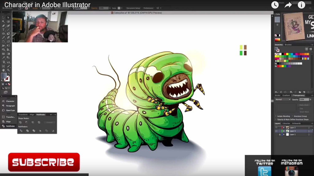 Adobe Illustrator Character Design Tutorial : Inspiring retro character design tutorials
