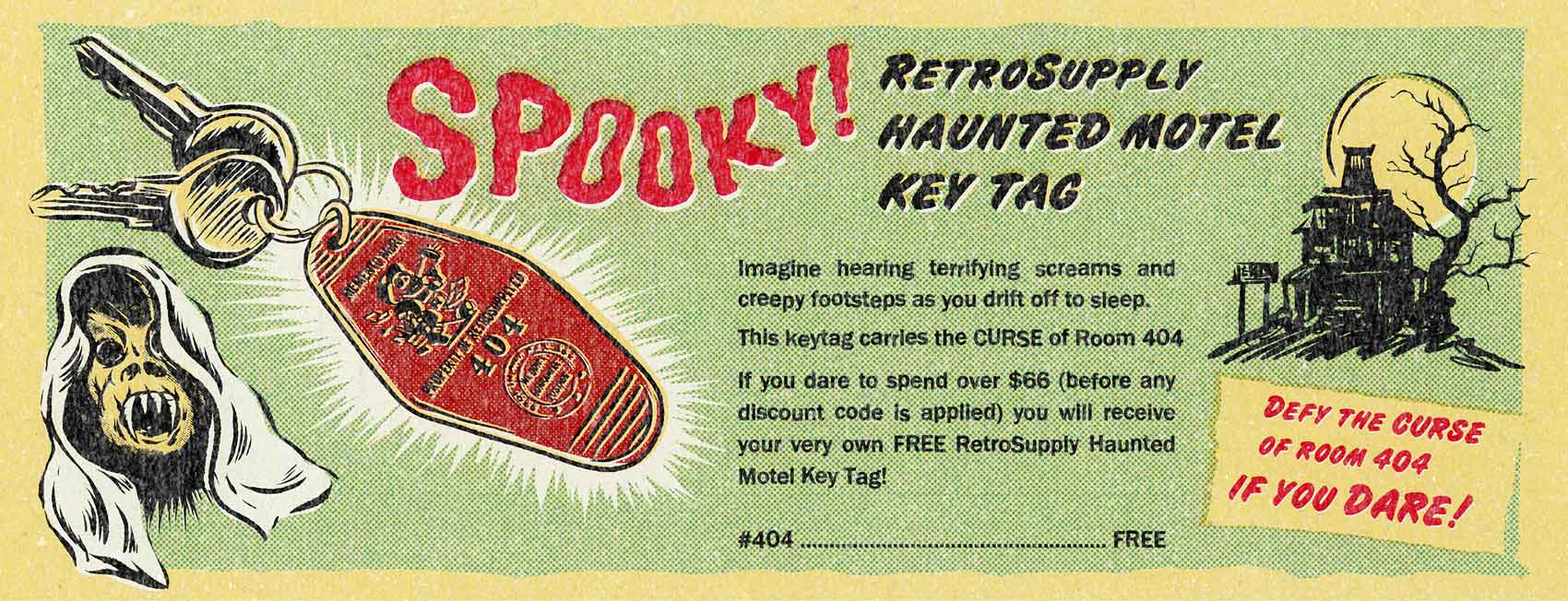 RetroSupply Official Haunted Motel Key Tag