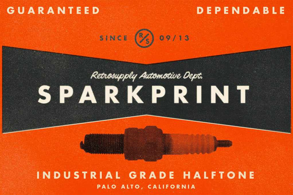 Free Retro and Vintage Photoshop Actions: Sparkprint Halftone Factory