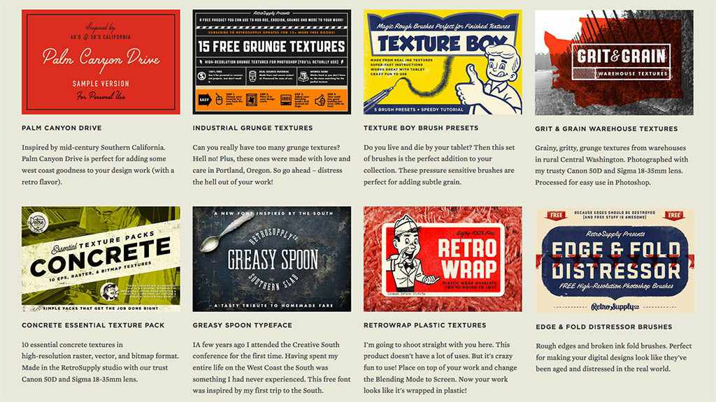 Free retro and vintage textuers: RetroSupply freebies