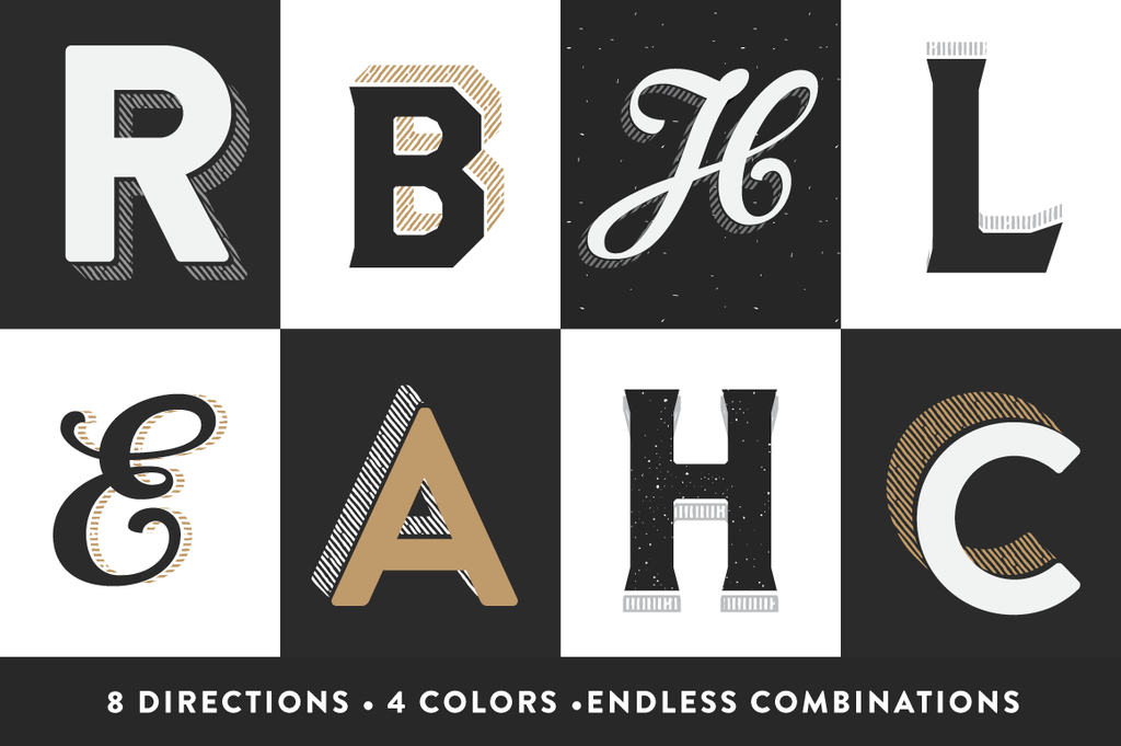 Retro Text Effects: Craftype Illustrator actions