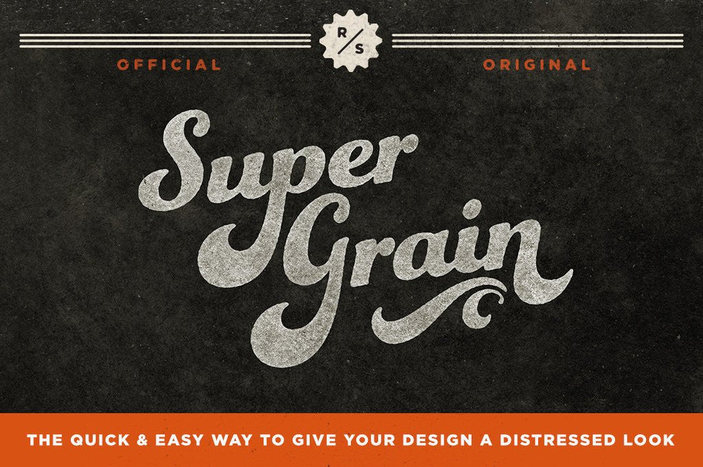 Retro Text Effects: SuperGrain ink textures