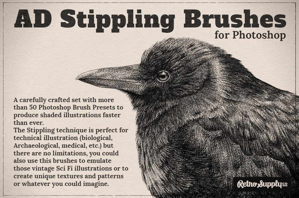 Retro and vintage brushes: AD Stippling
