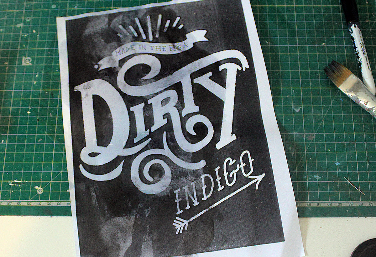 How to make a handmade grunge typography effect