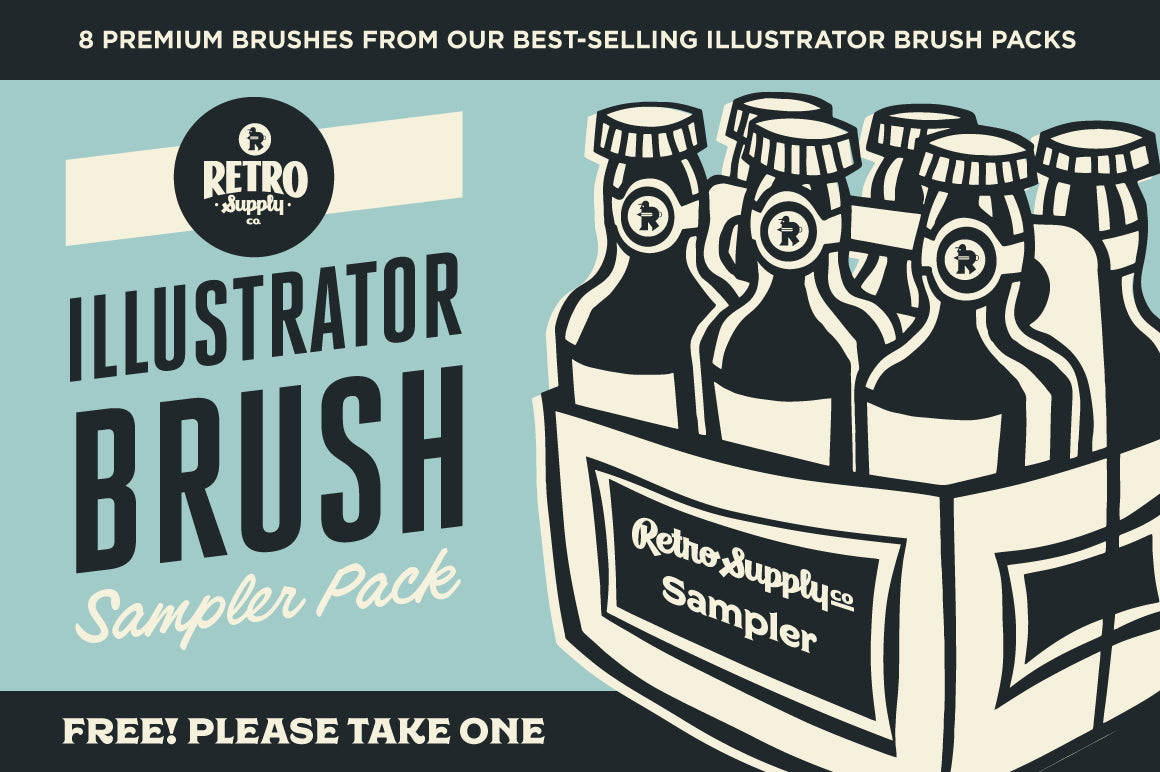 The Best Free Illustrator Brushes for Retro and Vintage