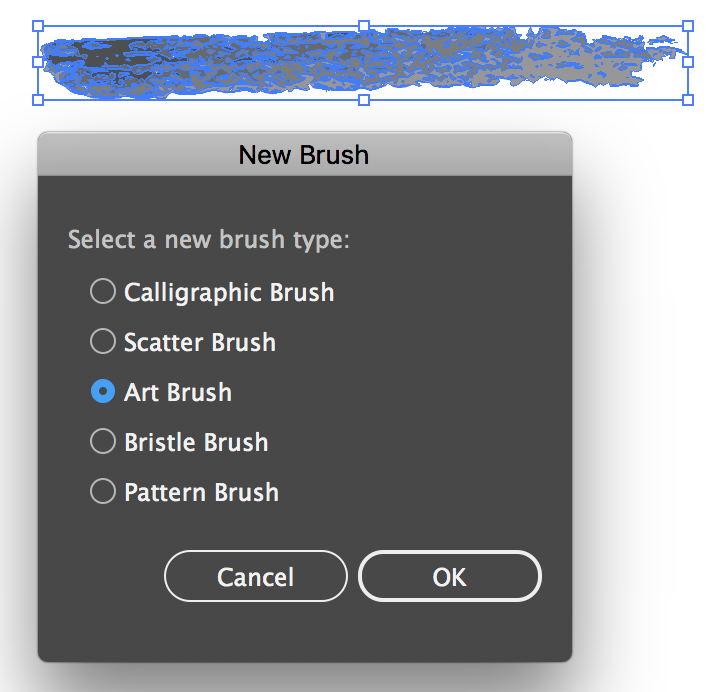 Convert Illustrator Texture to Brush
