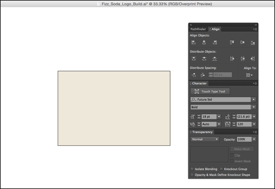 Create artboard and background