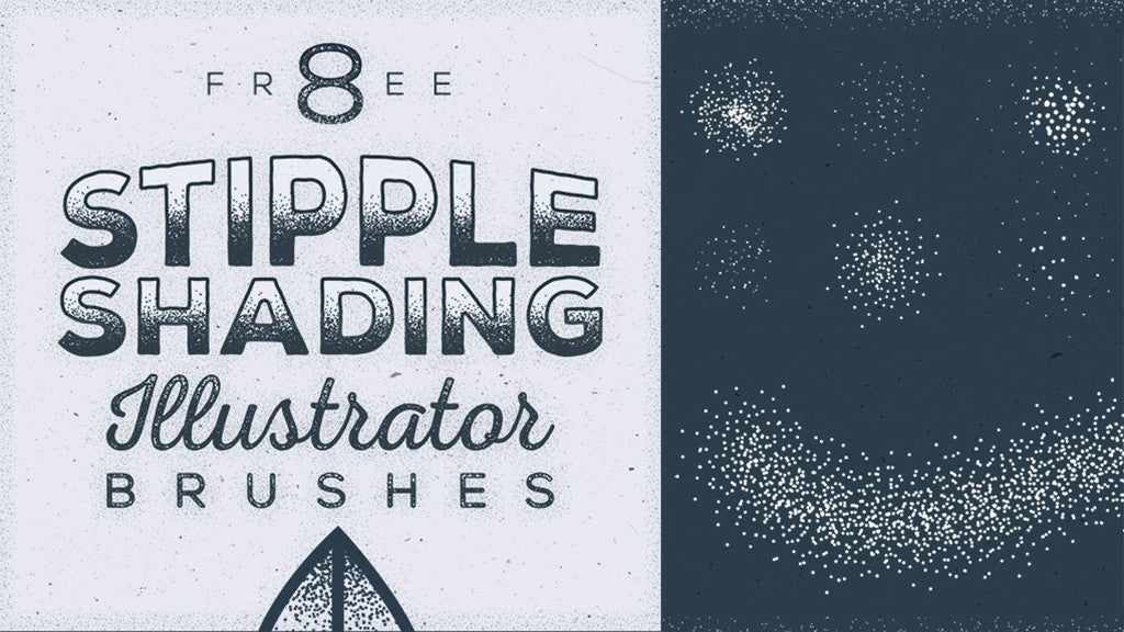 Free Illustrator brushes: Stipple Shading