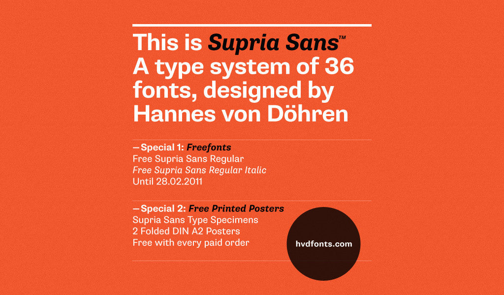 Free retro and vintage fonts: Supria Sans