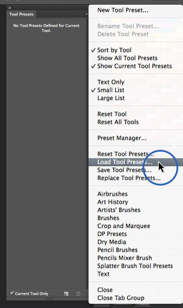 How to Install Brush Tool Presets  tpl into Photoshop