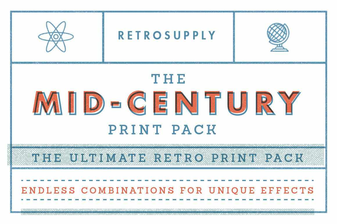 The Mid-Century Print Pack by RetroSupply
