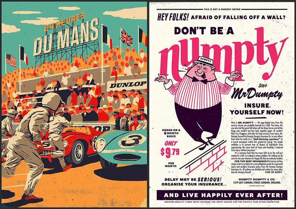 Best retro and vintage illustrators: Timba Smits