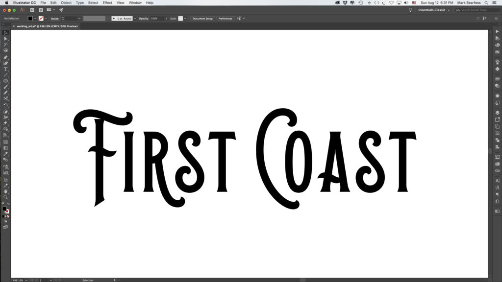 Typography for vintage logo design