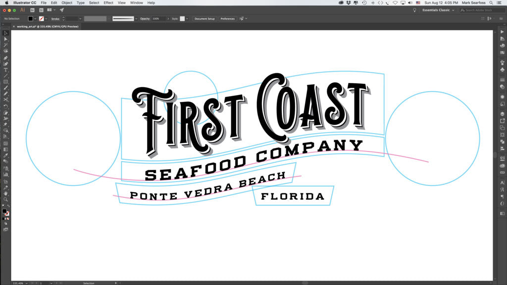 How to warp type for vintage logo design typography