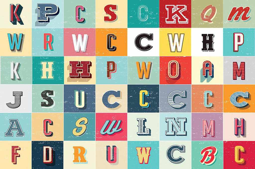 Retro Text Effects: Vintage Allsorts Graphic Styles