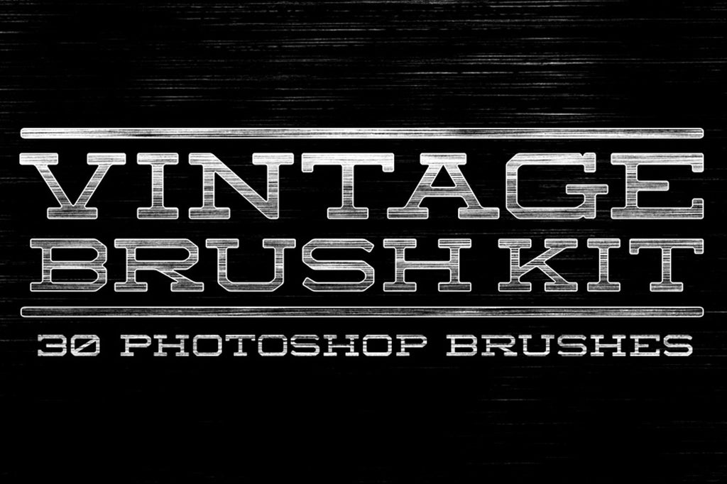 Retro Photoshop Brushes: vintage brush set