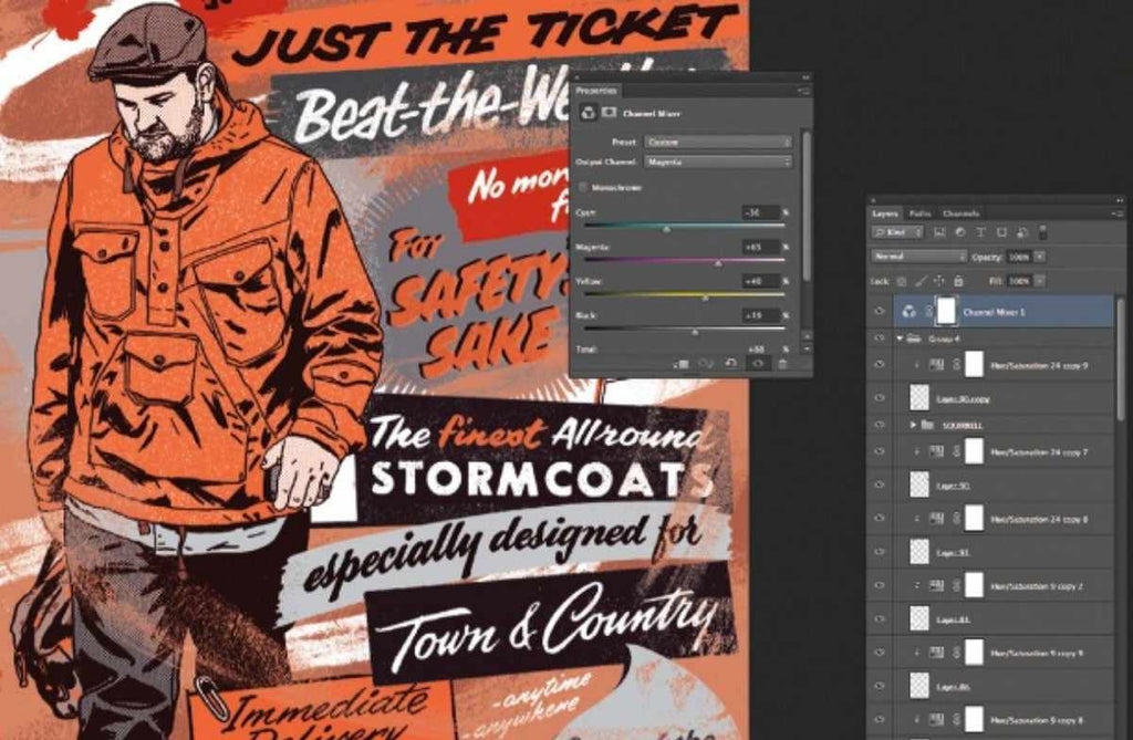 Retro and vintage Photoshop tutorials: custom brush strokes