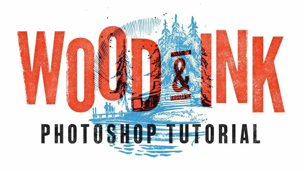 Retro and vintage Photoshop tutorials: How to Create a Wood Type Inspired Design