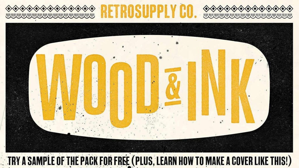 Free vintage wood and ink textures