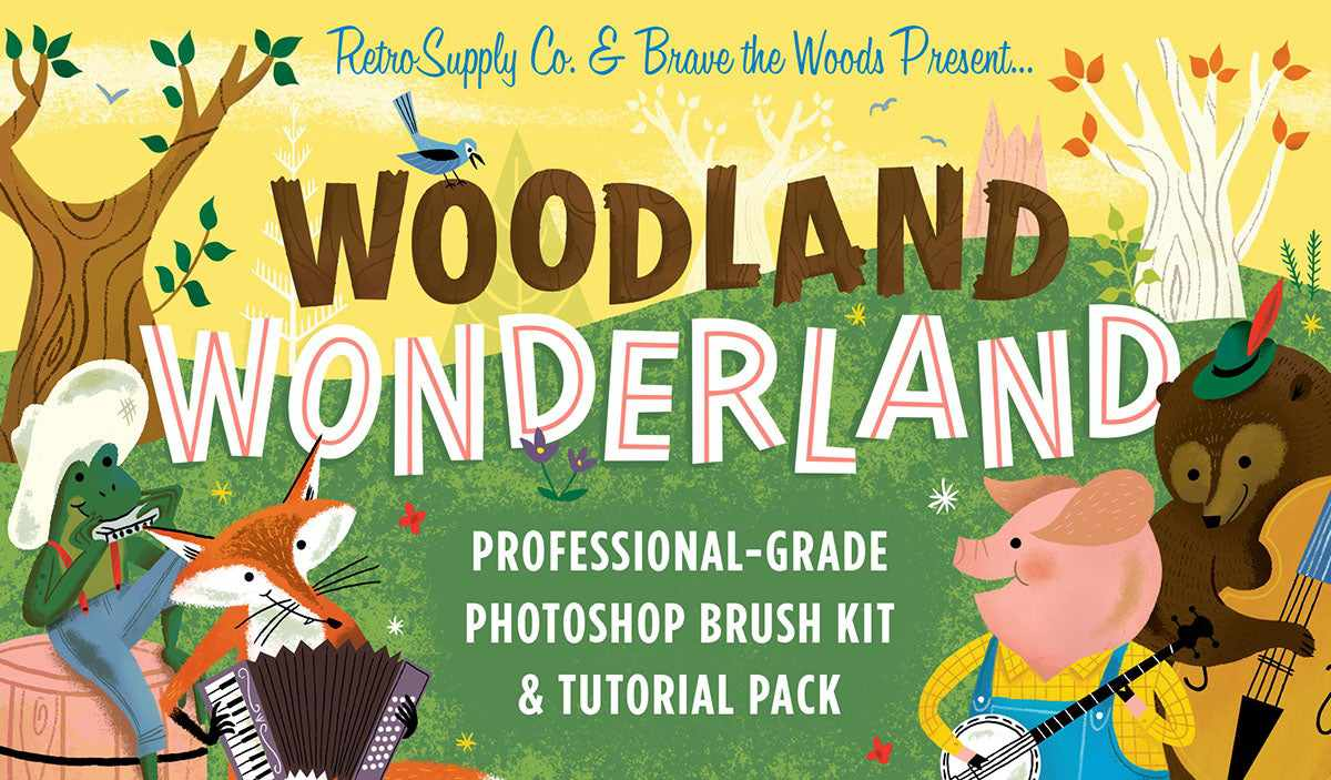 Woodland Wonderland Brush & Tutorial Pack
