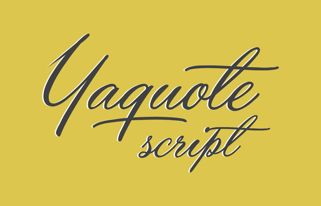 Free Retro and Vintage Fonts: Yaquote