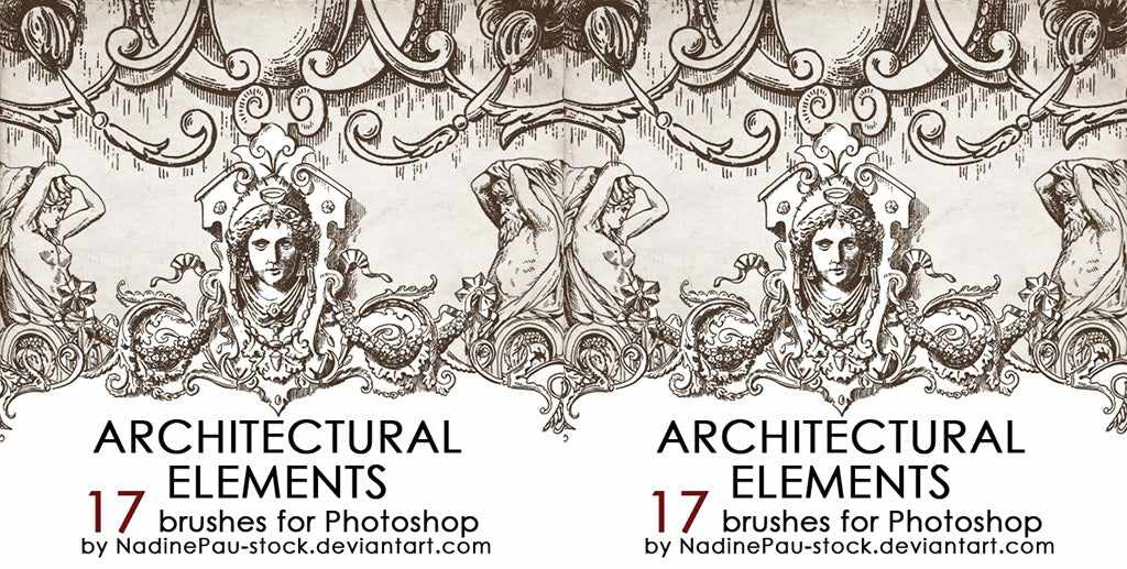 retro photoshop brushes Architectural ornaments