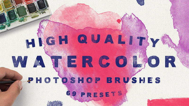 9 realistic watercolor Photoshop brush sets you should own