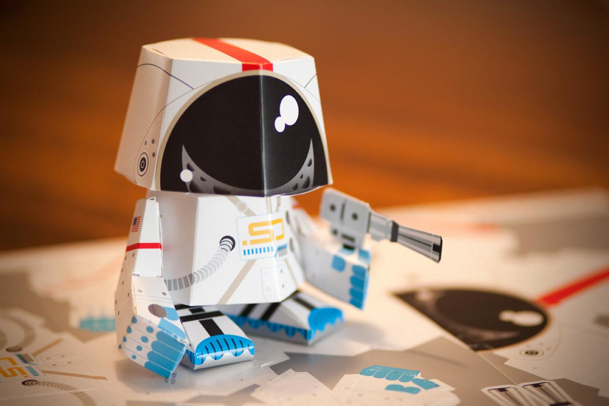 Space Junk paper toy by Jeremy Slagle