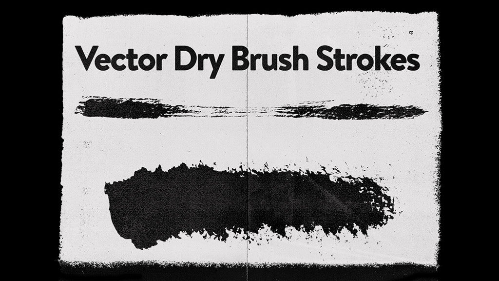 Free Illustrator brushes: Dry Vector Brushes