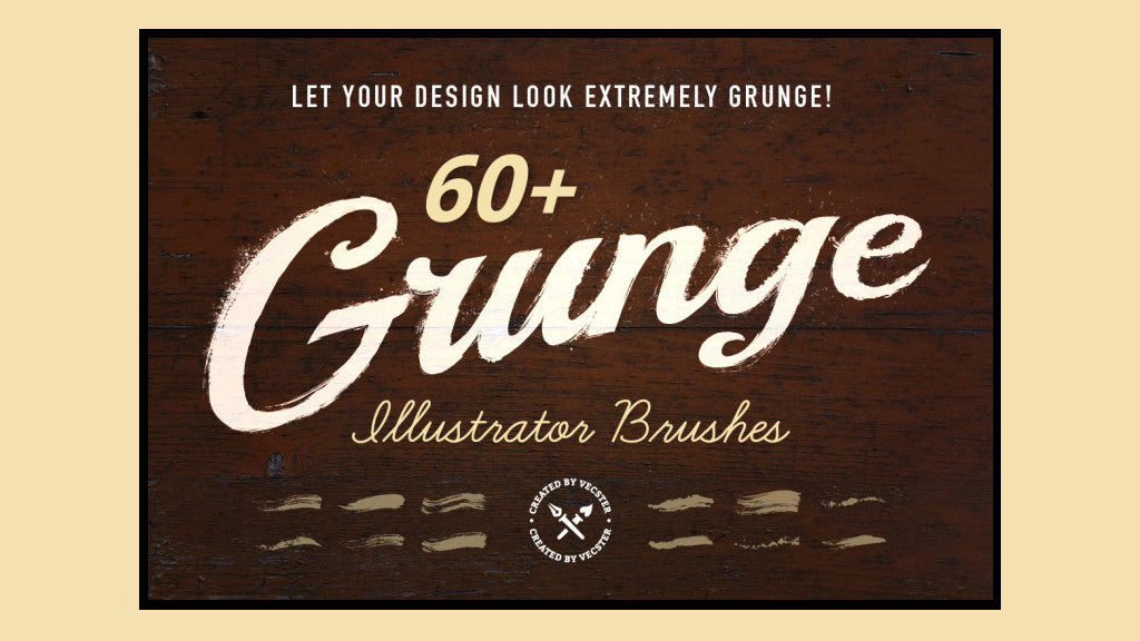 Free Illustrator brushes: Grunge pack