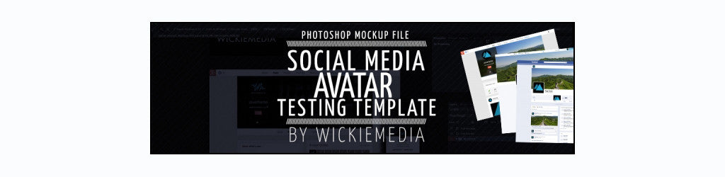 Best free retro and vintage resources: social media logo testing Photoshop template