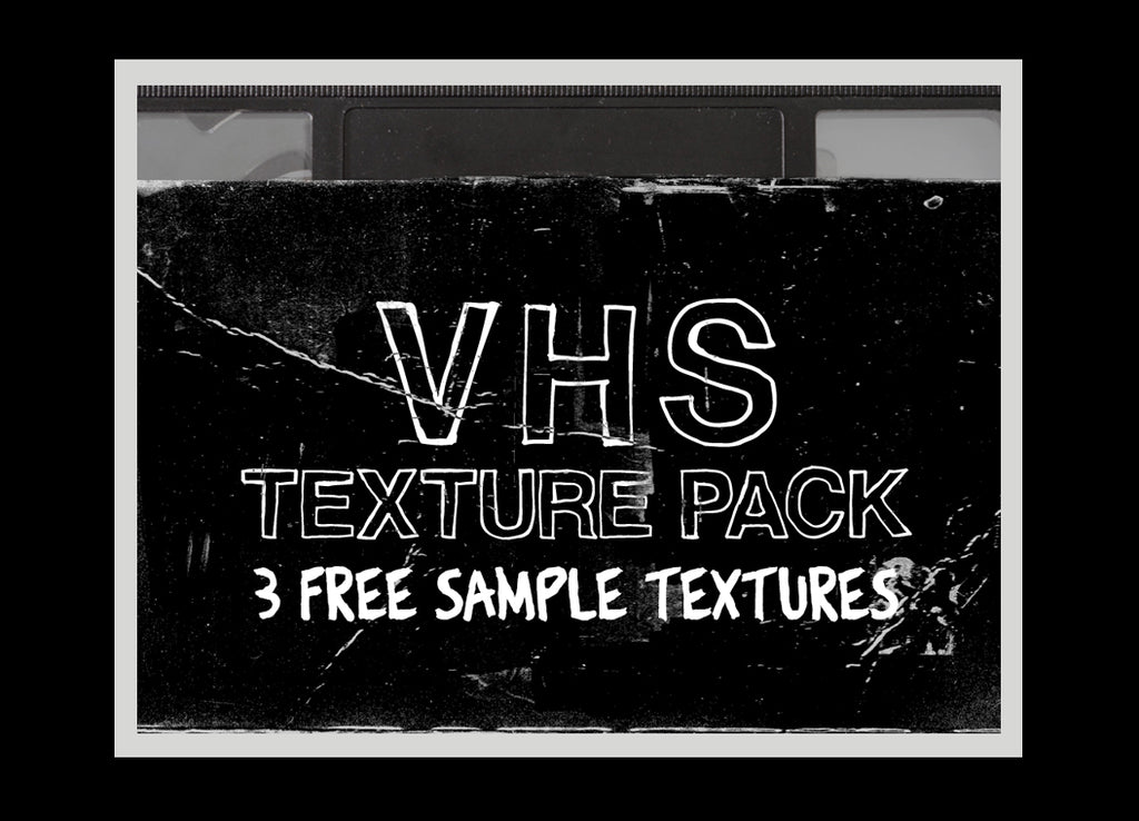 Free retro and vintage textures: VHS