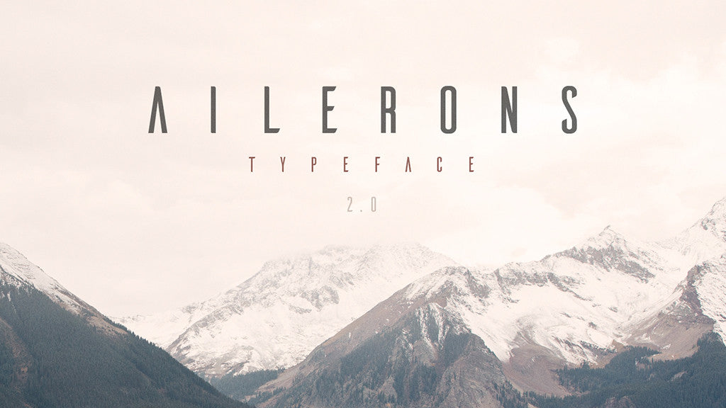Free retro and vintage fonts: Ailerons