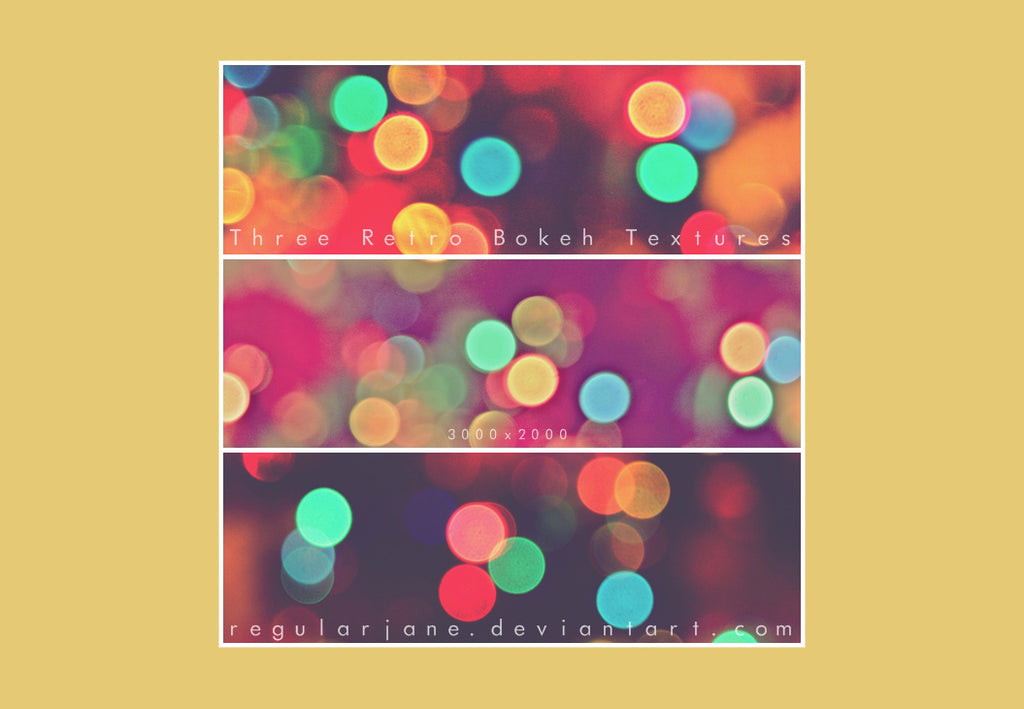 Free retro and vintage textures: bokeh