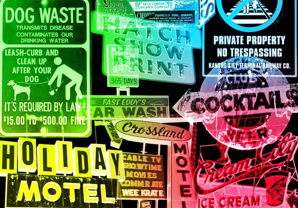 Retro Photoshop brushes: old signs
