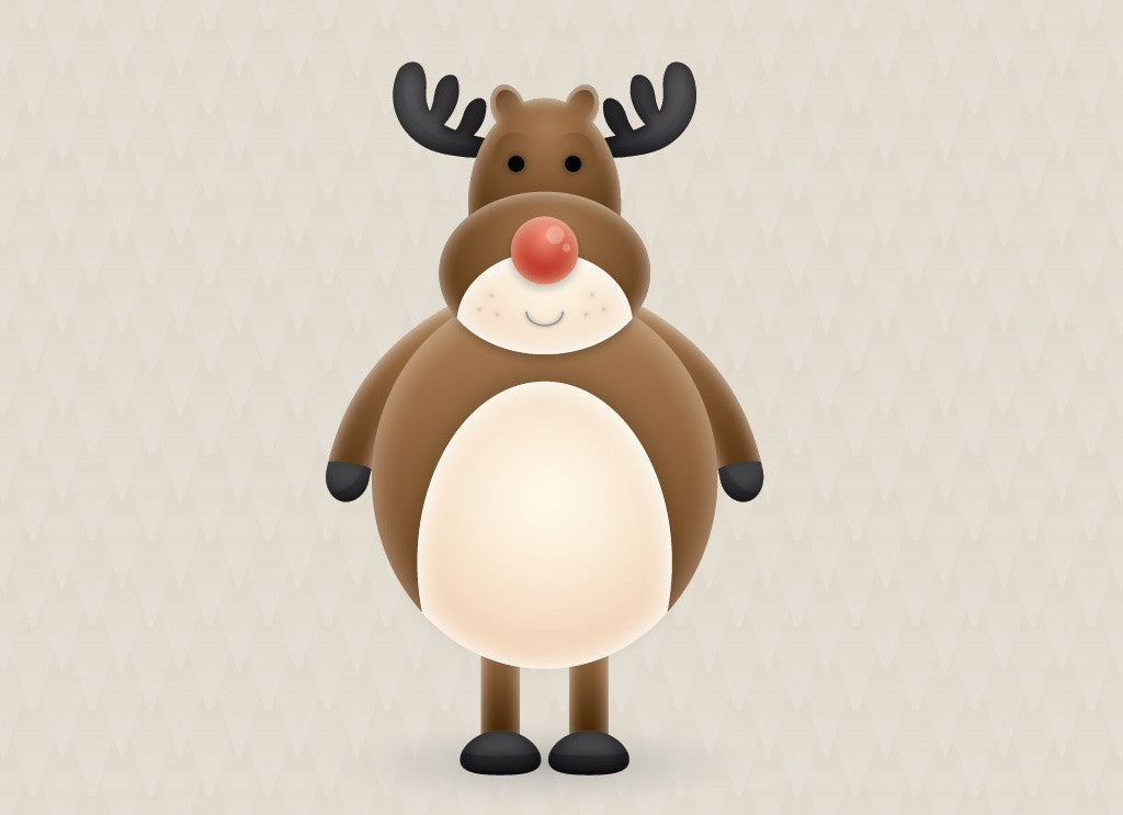 Retro character design tutorials: reindeer