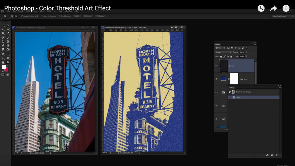 Retro and vintage tutorials: color threshold