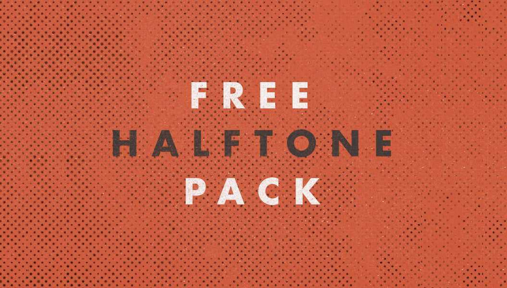 Retro and vintage textures: free halftone pack