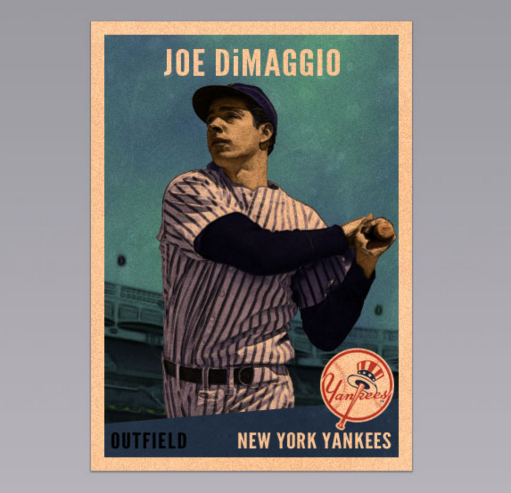 Retro and vintage Photoshop tutorials: baseball card